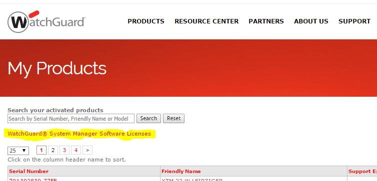 WatchGuard Management Server Lizenzen 1