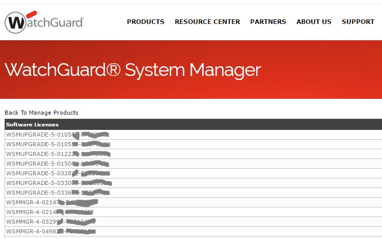Watchguard Management Server Lizenzen 2