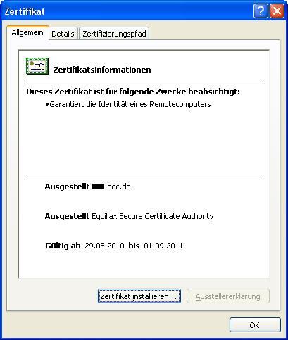 Zertifikat - BOC WatchGuard Info-Portal