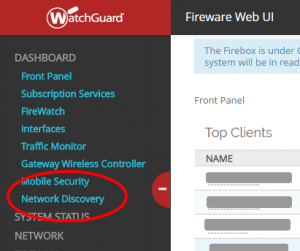 WatchGuard Network Discovery 1