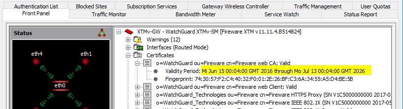 Erneuern des Default-Webserver-Zertifikats einer Firebox - BOC ...