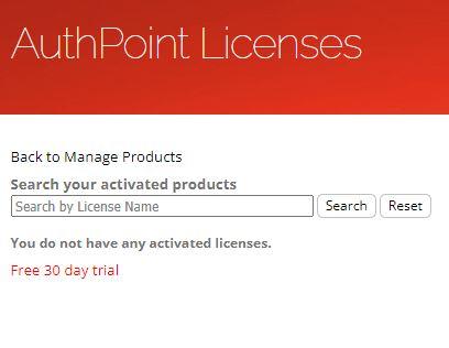 AuthPoint Lizenzen