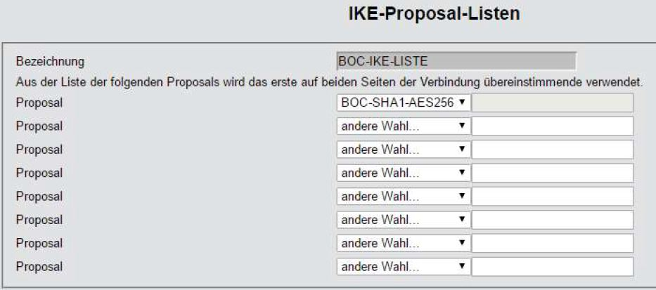 LANCOM-Router IKE-Proposal-Listen2