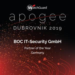 WatchGuard Partner of the Year 2019 Award